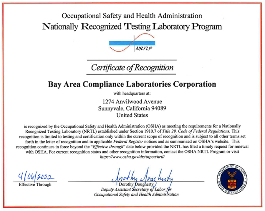 Great News | Congratulations that BACL was recognized by OSHA as a ...